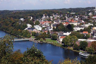Blick über die Ruhr und Kettwig