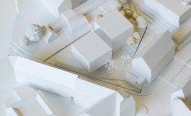 Modellentwurf des neuen Petershof