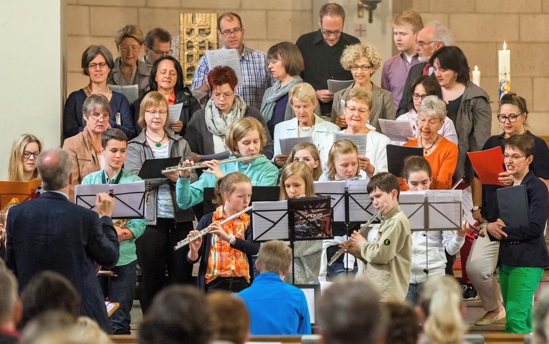Gruppenbild eines Chors der Kirchengemeinde