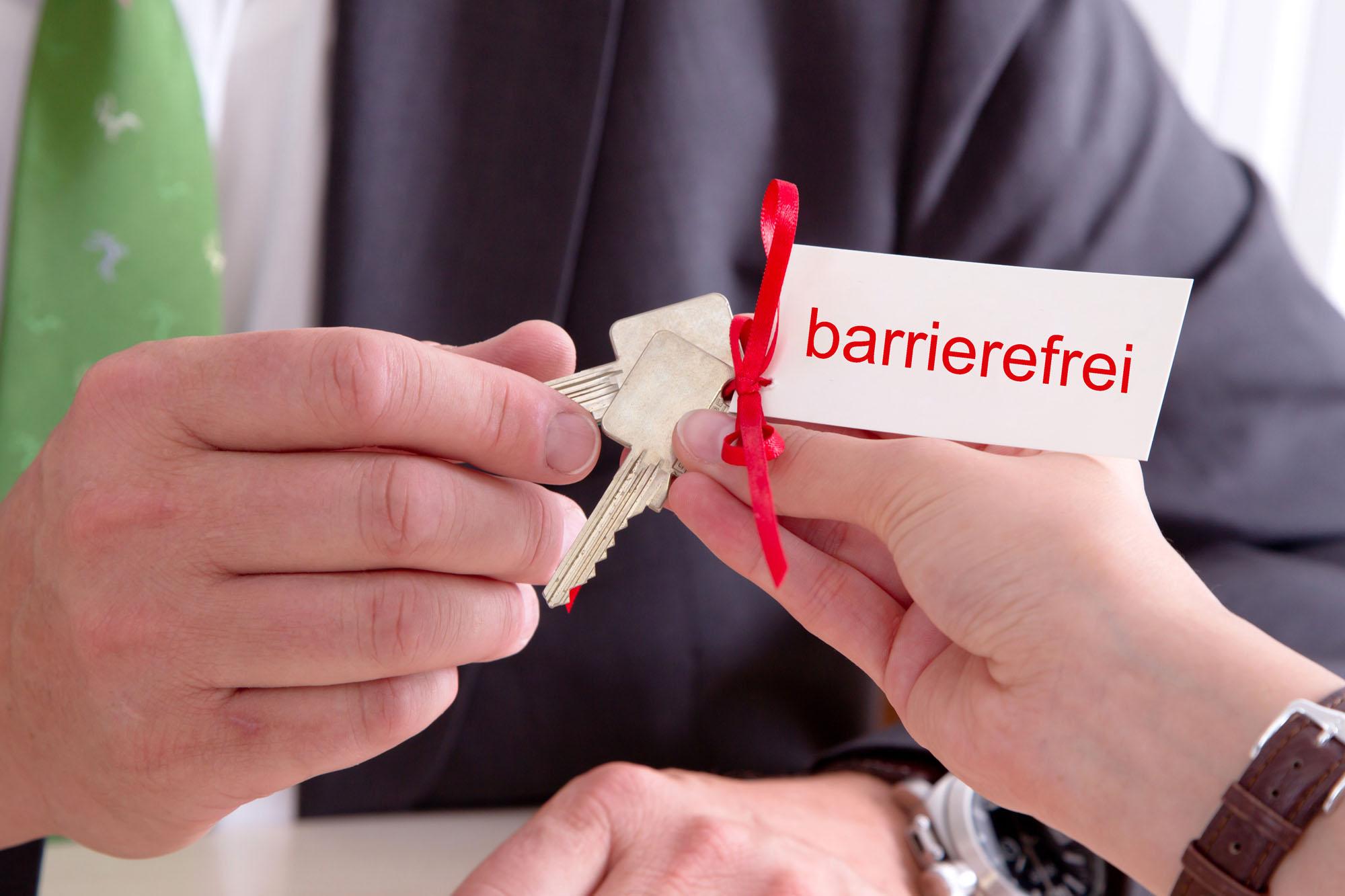 Schlüssel zur barrierefreien Wohnung
